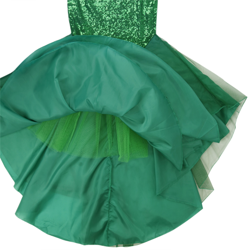 Image 4 - YiZYiF Sequined Mermaid Skirt Halloween Cosplay Mermaid Costume Maxi Skirt Anime Little Mermaid Ariel long green Skirt Women-in Movie & TV costumes from Novelty & Special Use
