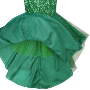 Image 4 - Женская юбка Русалка с блестками YiZYiF, Длинная зеленая юбка макси для косплея на Хэллоуин