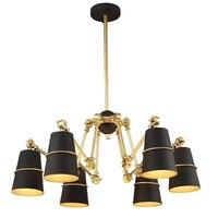 BDBQBL 1/6/8 ראשי תליון אורות נורדי AC 90-260 V ראשי עכביש מתכת תליון מנורה עבור מטבח מסעדה משותף פשוט Hanglamp
