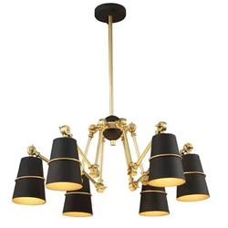 BDBQBL 1/6/8 Heads Pendant Lights Nordic AC 90-260V Heads Spider Metal Pendant Lamp for Kitchen Restaurant Joint Simple Hanglamp
