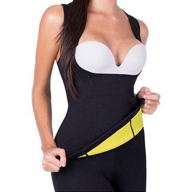 Women Slimming Waist Belly Belt Corset Neoprene Sauna Vest Sweat Shirt Shapewear 1
