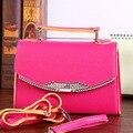 2016 new Fashion women's bags famous brand hot pink handbag leather lady shoulder bags clutches diagonal mochila messenger bag !