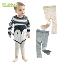 2017 SLAXIU Baby Tights Boys Girls Stocking for Infant Babys Girl Knitted Pantyhose Newborns Toddler Infant Ballet Pantyhose