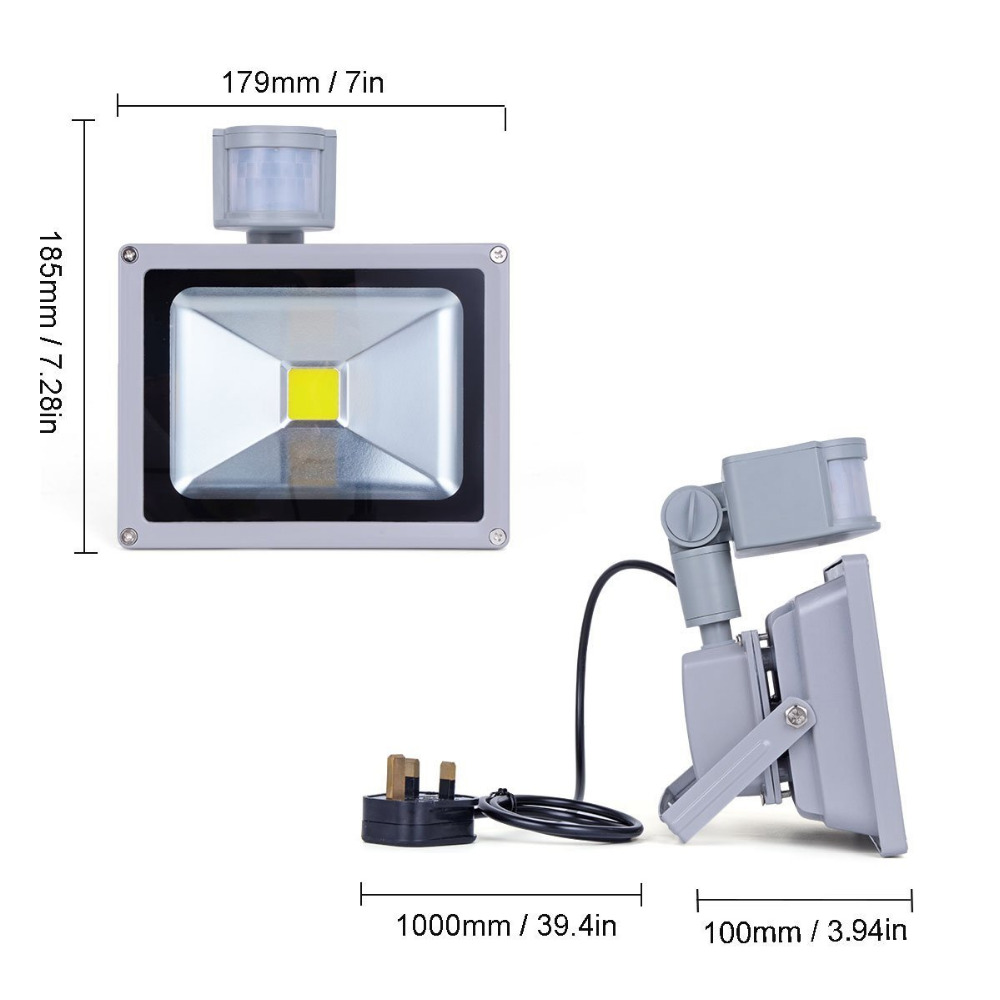 Led flood lights with pir sensor waterproof security lights with uk led flood lights with pir sensor waterproof security lights with ukeu us for homegardengaragelandscape floodlights 10w 20w in floodlights from lights aloadofball Choice Image