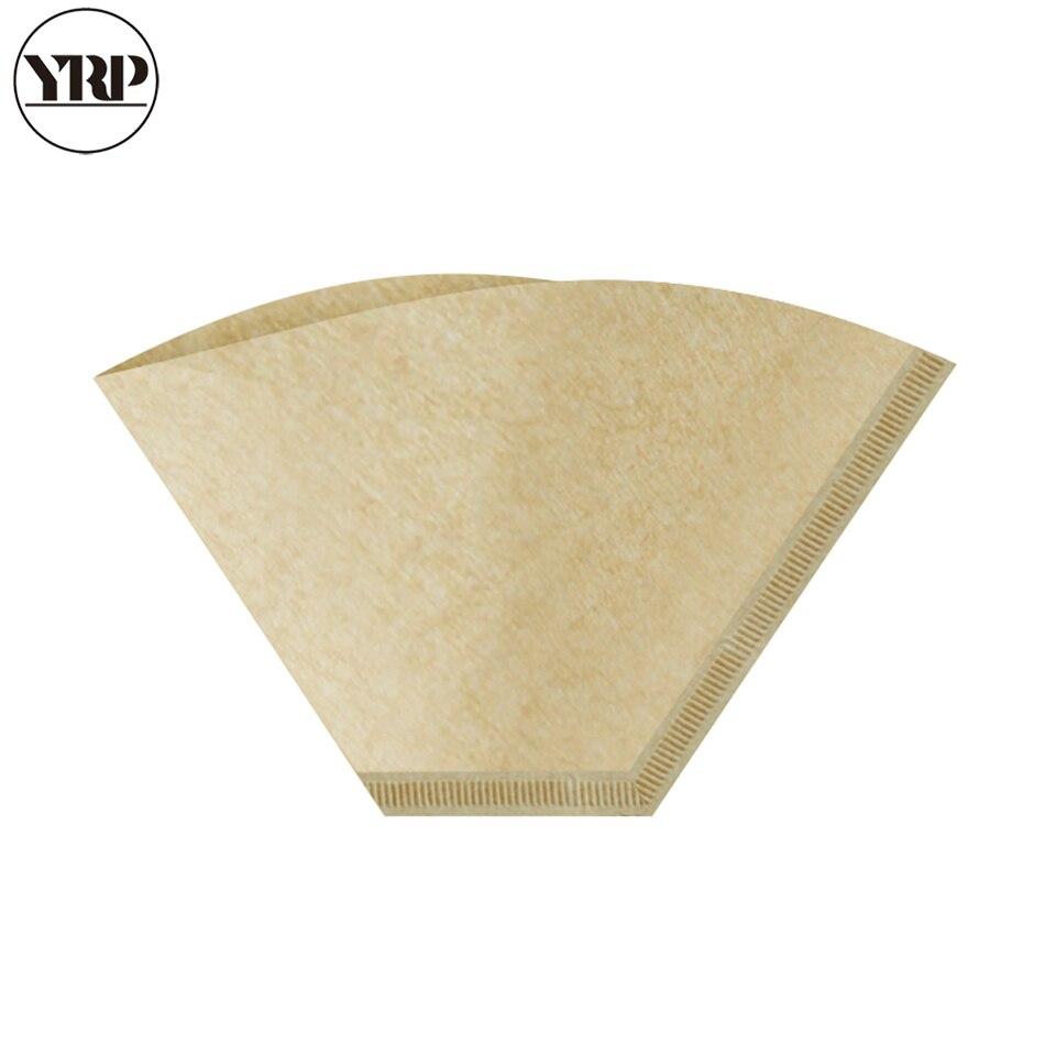 YRP 50 ⑤ пакет, деревянная оригинальная ручная капельная бумага для кофе V60, вентиляторный фильтр, фильтры для кофе эспрессо, пакеты для чайных...