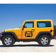 car sticker 2pc side door 4x4 mud graphic Vinyl decal custom for Jeep Wrangler Unlimited Rubicon 2016