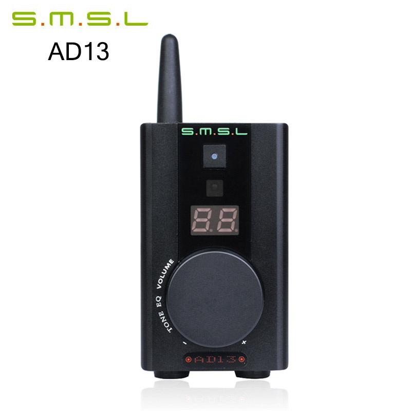 Amplifiers SMSL AD13 HIFI Multi-Function Decoder Digital AMP Bluetooth 4.0 HIFI Audio Power Amplifier 30W*2 19V TAS5766M USB DAC amplifiers original appj pa1501a mini 6ad10 digital audio voccum tube amplifier hifi desktop amp upgrade version of pa0901a 2017