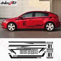 Sport Whole Body Sticker Car Door Side Decor Decals For Chevrolet Cruze Hatchback Sedan Racing Style Stickers Auto Accessories