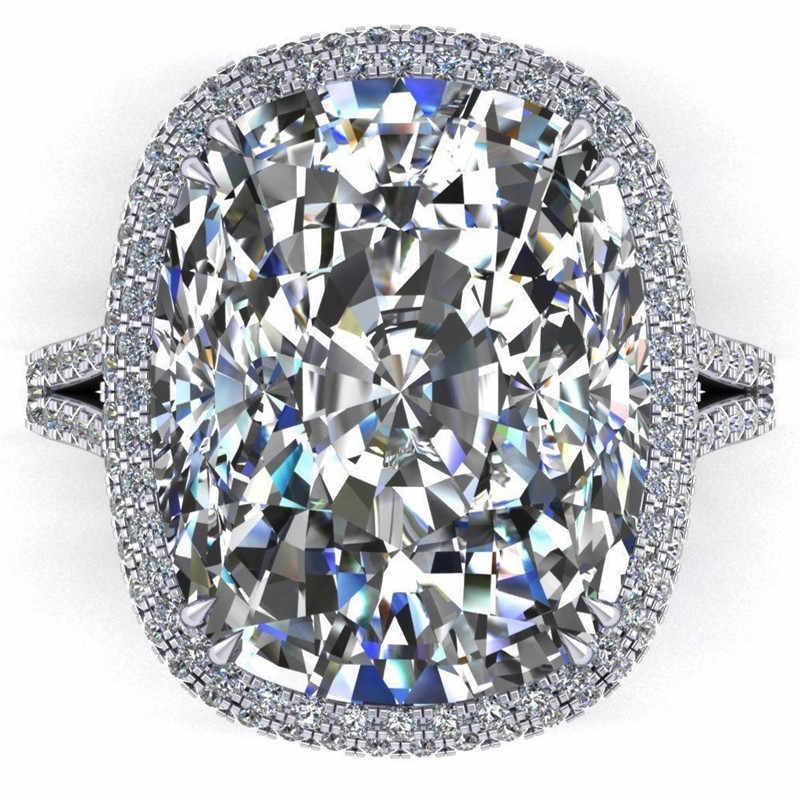 Choucong หรูหราแหวนตัด 8ct 5A Zircon CZ 925 เงินสเตอร์ลิงแหวนหมั้นแหวนผู้หญิงผู้ชายเครื่องประดับ