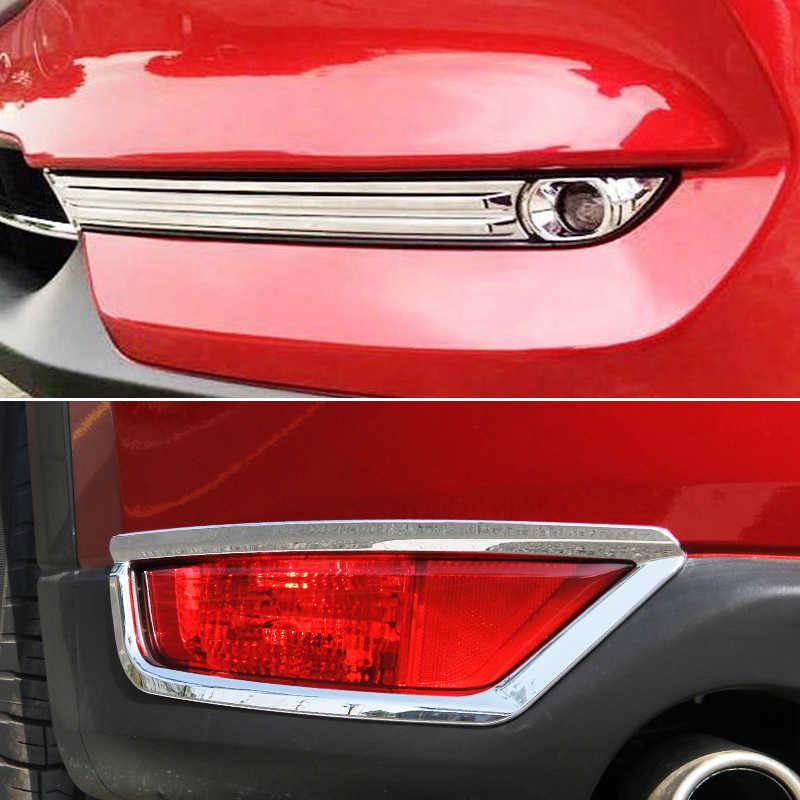 لمازدا CX-5 CX5 KF 2017 2018 2019 كروم الجبهة الخلفية الضباب ضوء الضوء الخلفي الجانب مرآة غطاء الكسوة قطاع الديكور سيارة التصميم