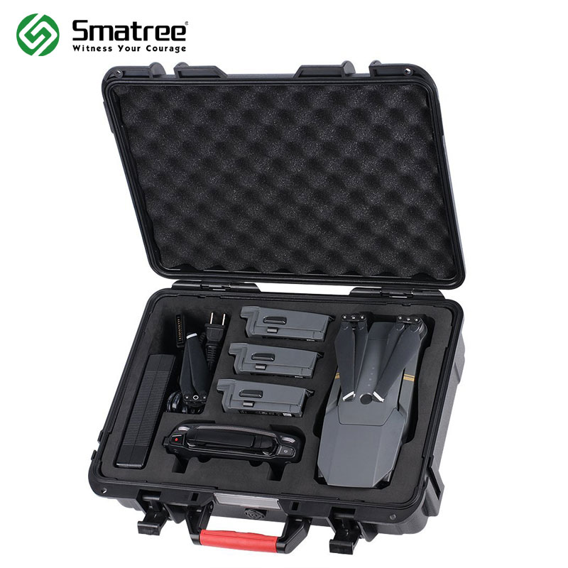 Smatree D600 Carrying Hard Case for DJI Mavic Pro  Waterproof Mavic Pro Hard Shell Box Compact Drone Storage Suitcase-in Camera/Video Bags from Consumer Electronics    1