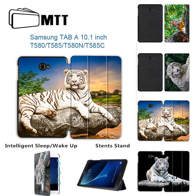 MTT Print Tiger For Samsung Galaxy Tab A 10.1 Case Flip Stand Cover for Samsung Galaxy Tab A6 10.1 2016 SM-T580 T585 Tablet Case планшеты samsung tab