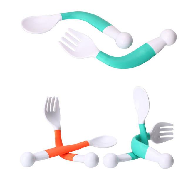 Flexible Baby Spoon+ Fork