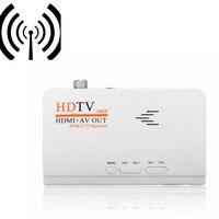 Più nuovo 1080 P HDMI DVB-T/DVB-T2 TV tuner Ricevitore Dvb-t/T2 HDTV box AV CVBS TV Satellitare Ricevitore per pc monitor LCD/CRT DVBT2