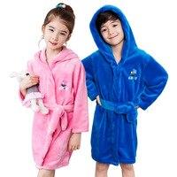 Enfants Imprimer Robe Vente 1 pcs De Mode Mignon 100% Corail Polaire Livraison Gratuite Enfants Robe Bébé Enfants peignoir Robe Douce pyjamas