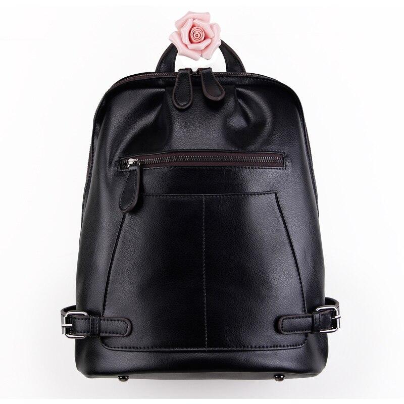 Marque célèbre haute qualité vache split cuir femmes sacs à dos vintage adolescentes sacs d'école dames sacs décontractés sacs à bandoulière