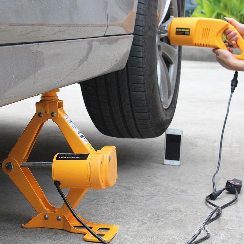 12 В электрический ножничный домкрат Электрический автомобильный домкрат Электрический гаечный ключ для удаления шин Автомобильный Электр...