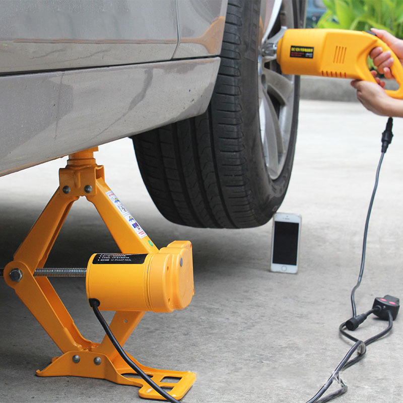 12V Electric Scissor-type Jack Car Car Electric Jack Vehicle Electric Wrench Tire Remover Equipment Car Electric Air Cannon newest 12v automotive electric car jack scissor lift 2 ton lifting jack auto emergency equipment impact wrench