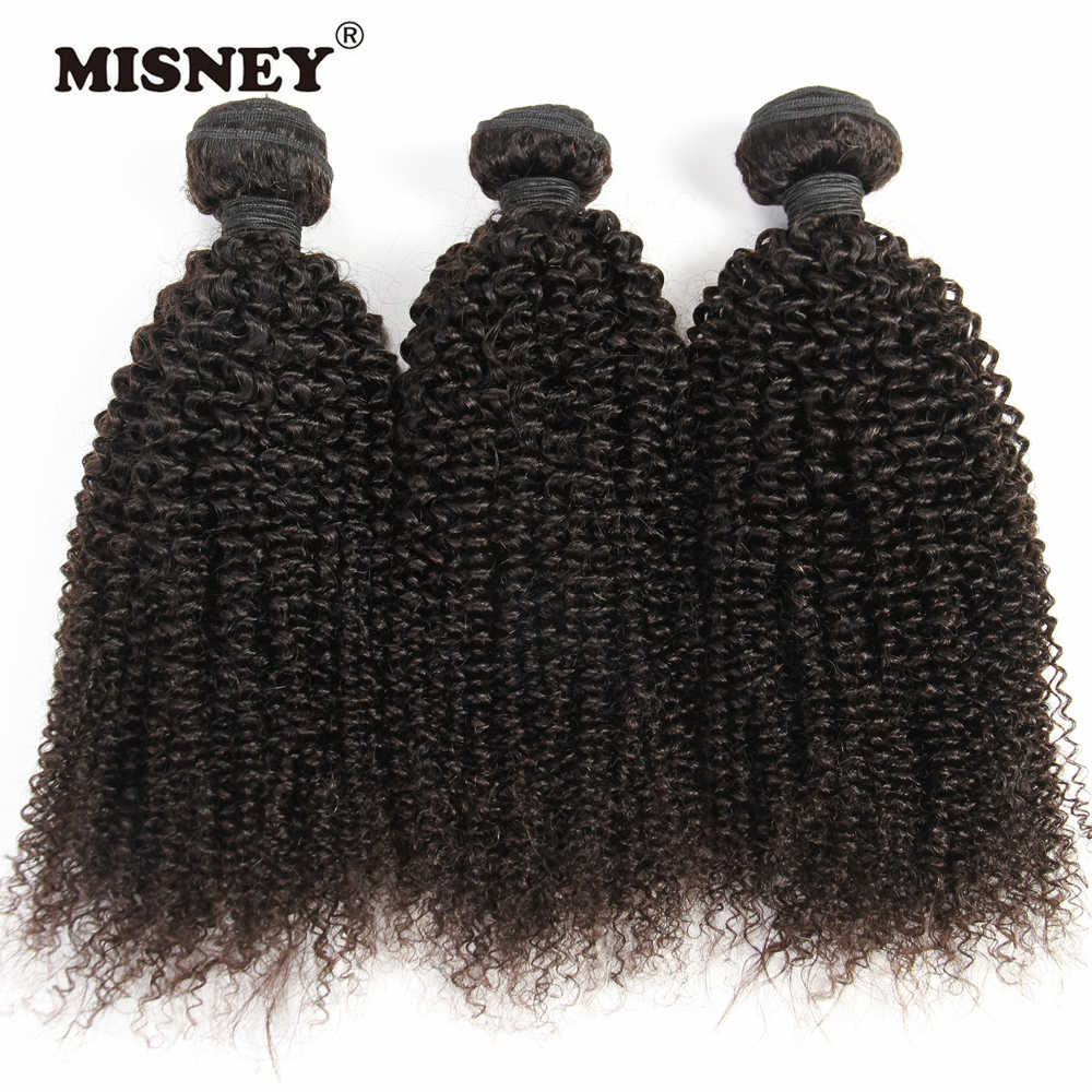 Kinky Curly Hair Extension 100% Human Hair Weaving 3 Bundles Machine Double Weft Nature Color 100g