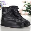 Reusable Plain Solid Shoe Covers Simple Women Men Waterproof Shoe Covers Rainproof Slip-resistant Overshoes HSF13