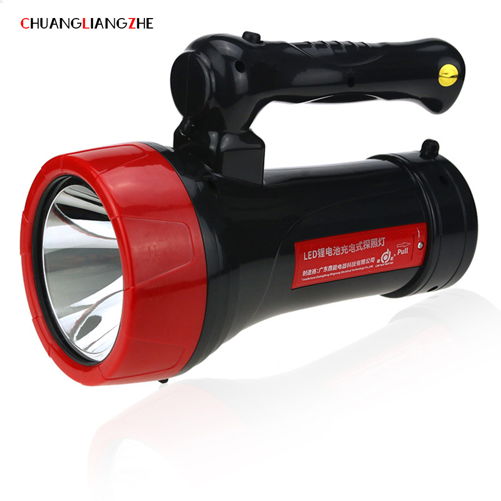 CHUANGLIANGZHE LED Rechargeable Searchlight Torch Two Outdoor Glare LED Battery Light Hand Camping Light Portable Light