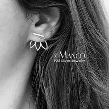 e-Manco Lotus Silver Stud Earrings 925 Sterling Silver Simple Earring