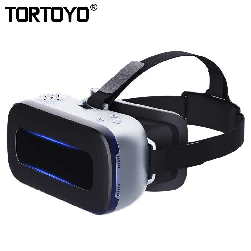 Intelligente Tutto in Una VR Occhiali Android 4.4 3D Bicchieri di Realtà Virtuale Casco Ultra-Octa 2g + 16g 1920*1080 WIFI Bluetooth USB/Slot Per TF