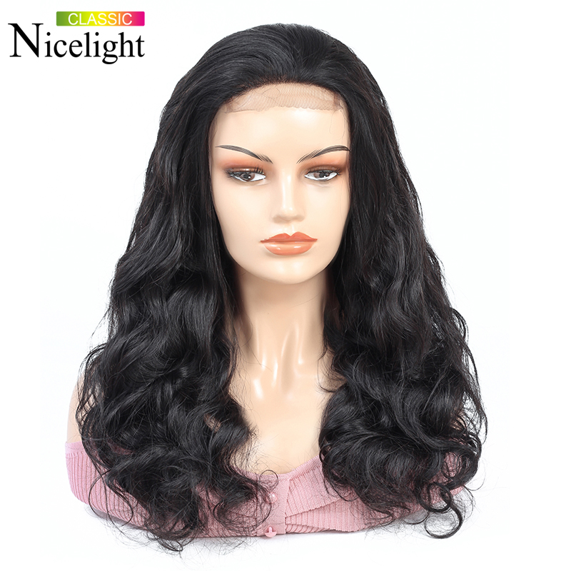 Body Wave Wig 4X4Lace Closure Wig Human Hair Closure Wig Bodywave Short Lace Wig Peruvian Hair Wigs Remy Hair Nicelight 8-26Inch