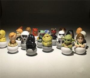 Image 3 - 15 штук, смешанный 3,5 см, Звездные войны, ПВХ, фигурка, игрушки, Очаровательная Коллекционная модель
