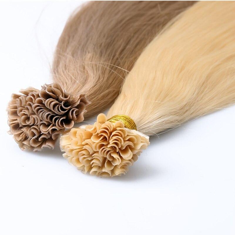 Nail Tip Keratin Hair Ectensions 1gstrand U Tip Fusion Human Hair