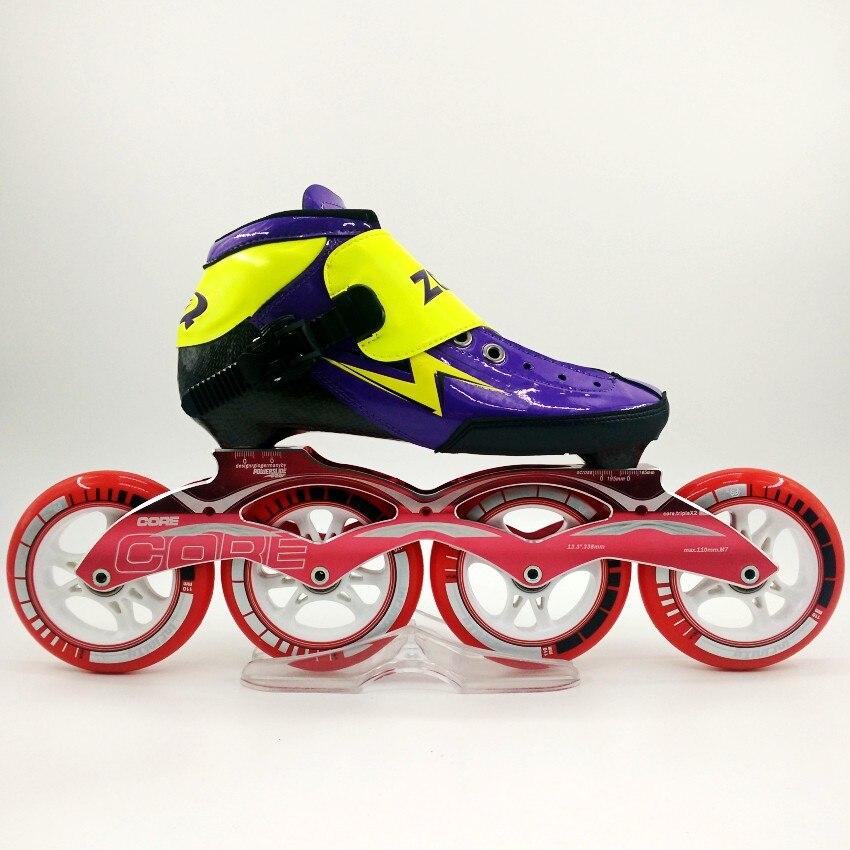 ZODOR of professional carbon fiber speed skating font b shoes b font speed rollerblading children adult