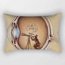 Hot sale many styles cartoon  pattern rectangle pretty men women pillow case home cover 50*30cm