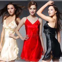 Womens Silk Satin Pajamas Pajama Pyjamas PJS Sleepwear Sleepcoat Nightskirt Nightdress U S S6 M8 M10