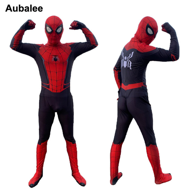 2019 Spider-Man lejos de casa adultos traje de niños Spiderman Cosplay  Zentai traje de 9943bf3e9a11