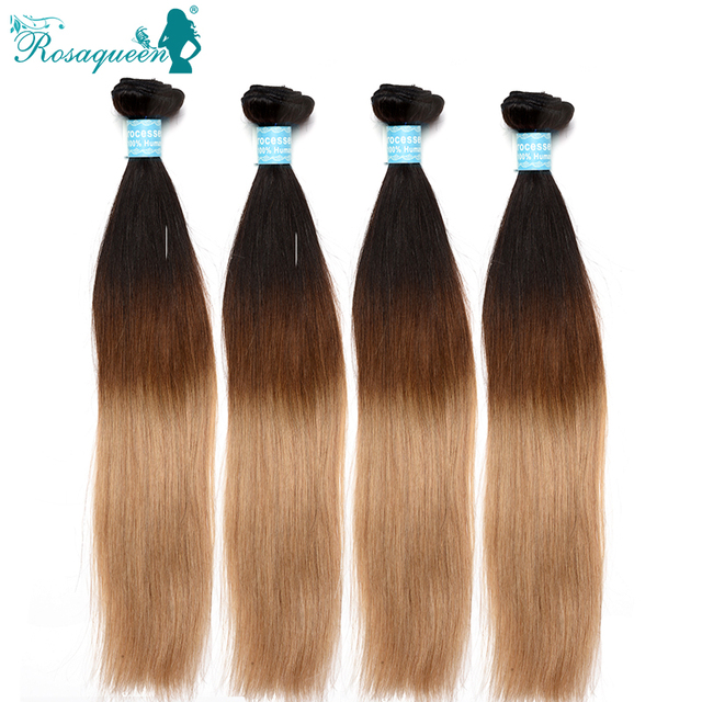 Ombre Hair Extensions Malaysian Virgin Hair Straight Colored 1B/4/27 Unprocessed 6A Ombre Straight Hair 4 Pieces Lot