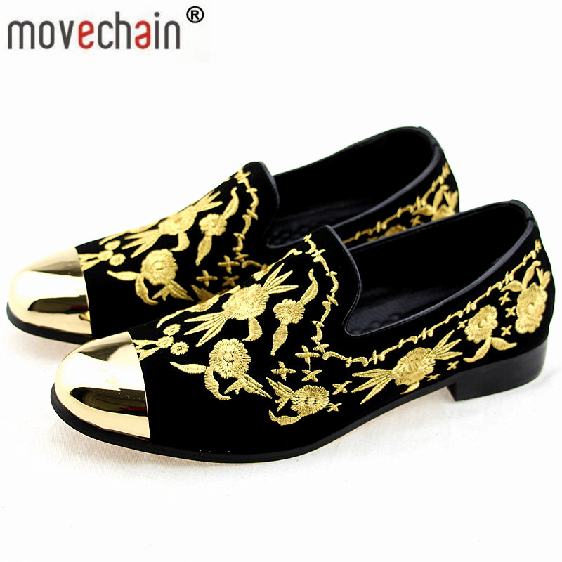 Fine Mens Fashion Brand Suede Leather Loafers Mens Casual Rhinestone Spider Moccasins Oxfords Shoes Man Party Flats Shoes