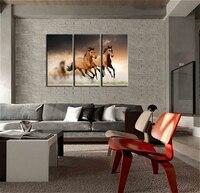 Running Wild Horse Brown Horses Galloping In Staub In Sonnenuntergang Leinwanddruck Wandkunst Malerei Für Hauptdekor Kunstwerk Tier bild