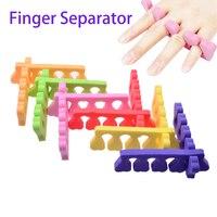 2 Pcs Finger Toe Separator Nail Art DIY Tool Manicure Pedicure Feet Care Sponge Separator Foot Care Little Toe 2017 New Sale