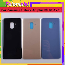 10Pcs/lot For Samsung Galaxy A8+ A8 plus 2018 A730 A730F A730DS Housing Battery Door Rear Back Glass Cover Case Chassis Shell full cover tempered glass for samsung galaxy a8 2018 a730 a730f a730f ds duos plus a8 plus screen protective black display case