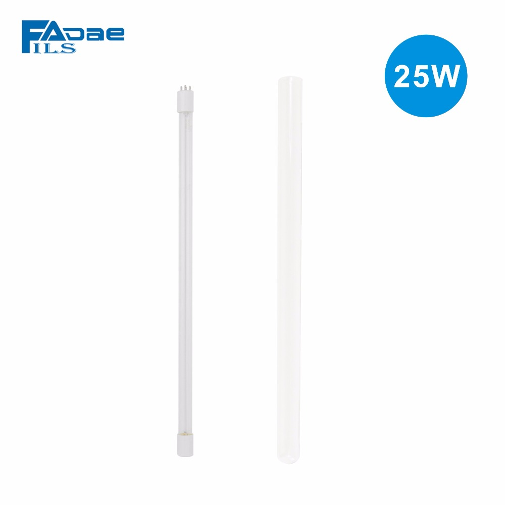 Compatible 25W UV Germicidal Bulb + QUARTZ tube For 25W Ultraviolet Sterilizer 4mm 3mm uv printer tube uv ink tube printer uv tube for epson stylus pro 4800 4880 7800 9800 uv printer 50m