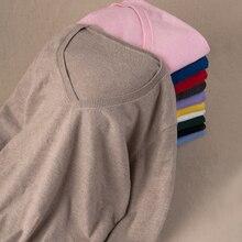 GABERLYซอฟท์แคชเมียร์ยืดหยุ่นเสื้อกันหนาวและP Ulloversฤดูใบไม้ร่วงฤดูหนาวผู้หญิงเสื้อกันหนาวคอวีหญิงจัมเปอร์5XLแบรนด์ถักเสื้อสวมหัว