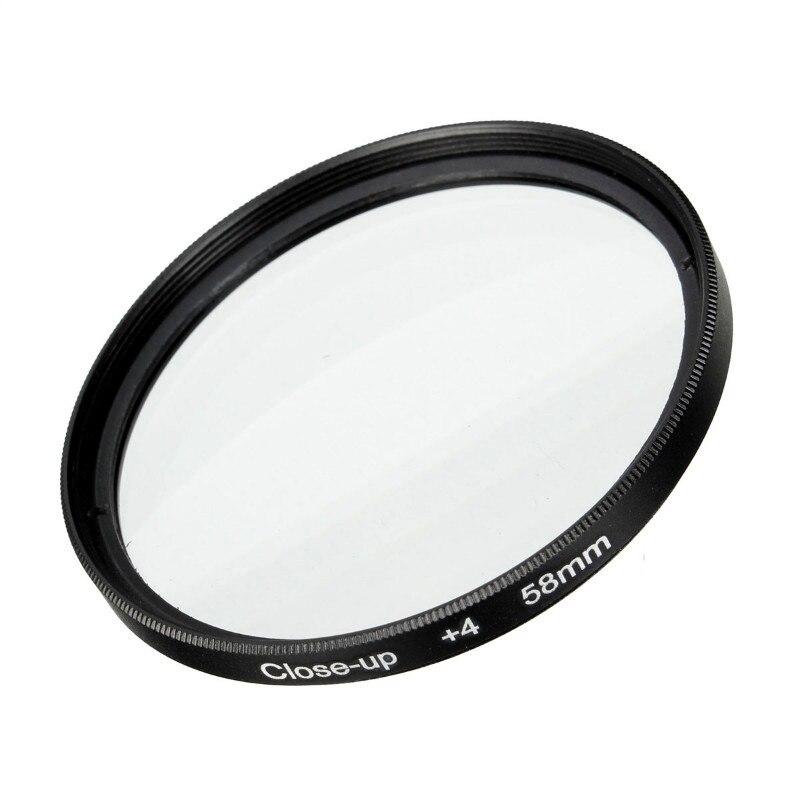 Câmera 58mm macro close-up filtro lente kit