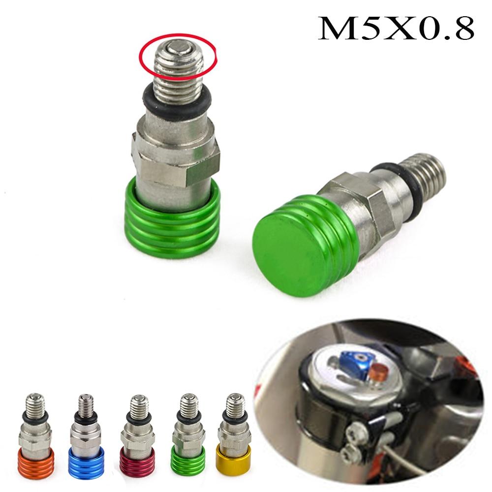 M5x0.8 Fork Air Bleeder For Kawasaki KX KLX KDX 65/85/125/140/250/450 KX250F KX450F KDX220 KDX200 KLX450R KLX650R