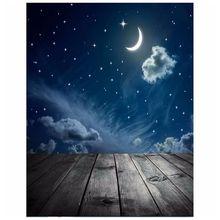 90 см x 150 см фотографии фоном Луна Звезды детская тема фотостудия фон реквизит