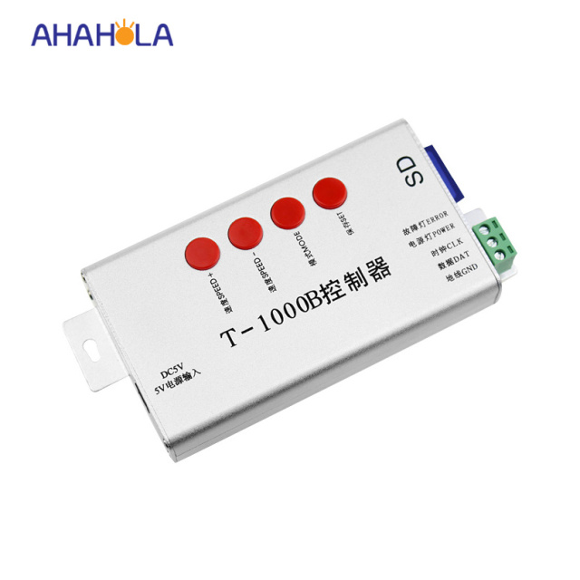 T 1000b ws2811 ws2812 ws2812b ws2801 controller for programmable led t 1000b ws2811 ws2812 ws2812b ws2801 controller for programmable led strip lights max control 2048 aloadofball