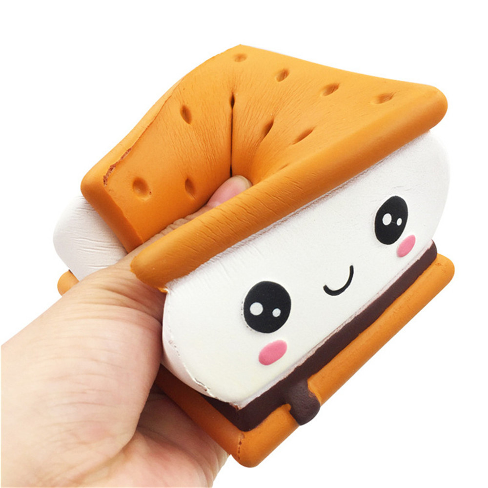 Mobile Phone Accessories Kawaii Sandwich Pizza For Squishy Squeeze Toy 11cm Jumbo Licensed Slow Rising Scented Toy For Kids Collection Gift Children Toy Cellphones & Telecommunications
