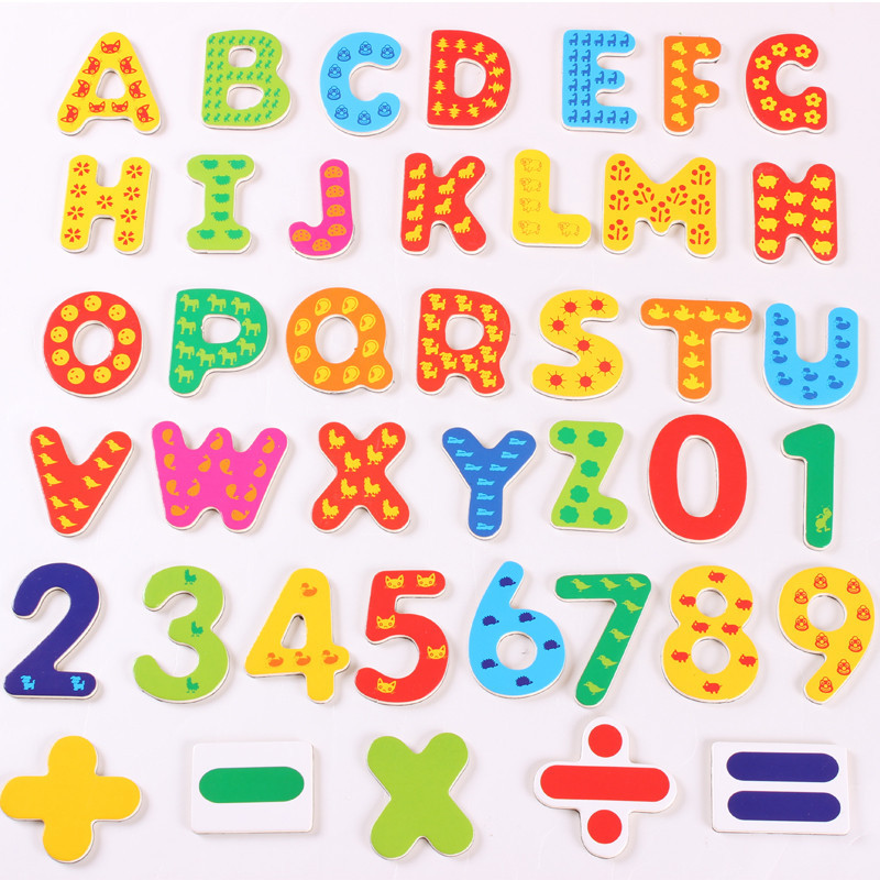 41Pcs/Pack Magnet Letter Fridge Early Learning Set Letters & Numbers Refrigerator Toy ...