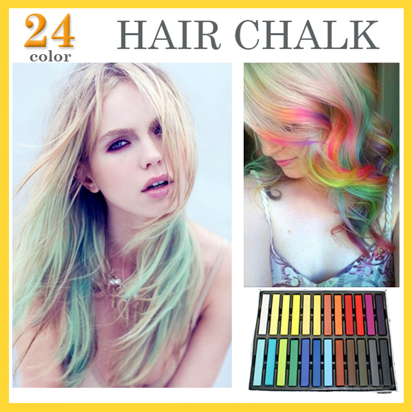24 Colors Set Fashion Hair Chalk Fashion Color Hair Chalk Dye Pastels Temporary Pastel Hair Extension