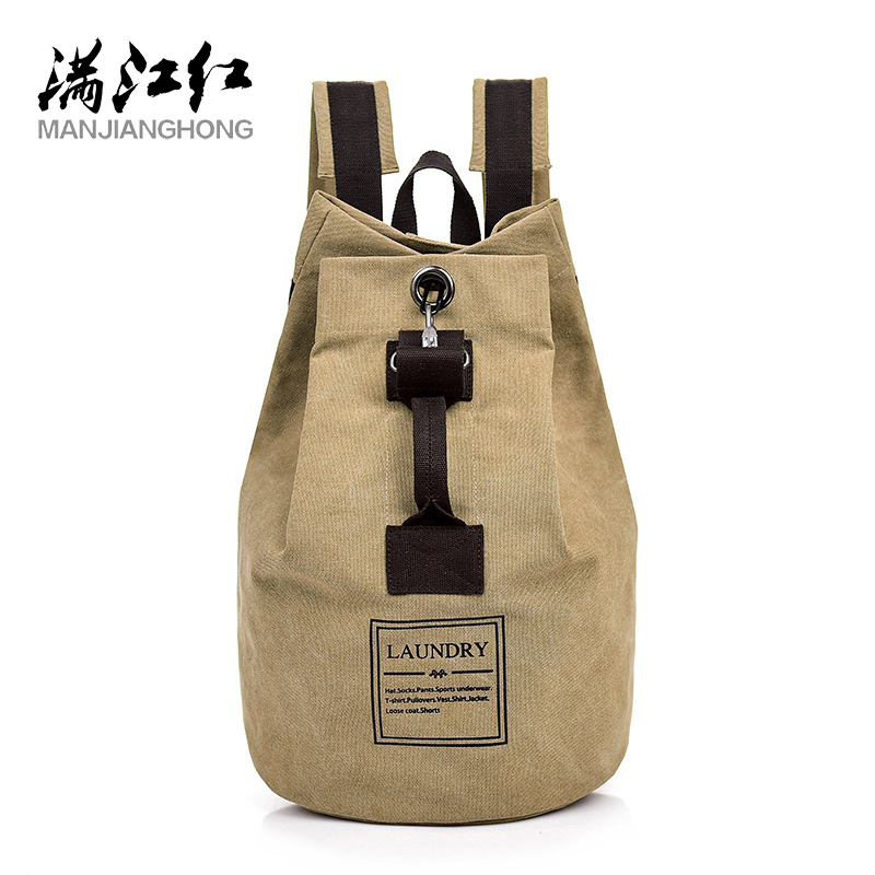 2019 Casual Canvas Unisex Backpack Bag Fashion Canvas Solid Color Backpack Man Business Travel Bag Quality Guaranteed