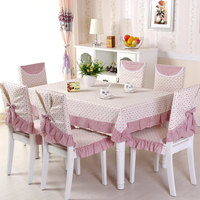 13pcs/Set Rectangular Tablecloth and Dining Chair Covers Dust Proof Home Decoration toalha de mesa Wedding Table Chair Covers